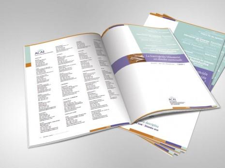 ACAI / Maquetación interior de memoria anual