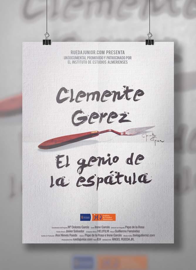 Diseño de poster para promoción del documental sobre Clemente Gerez