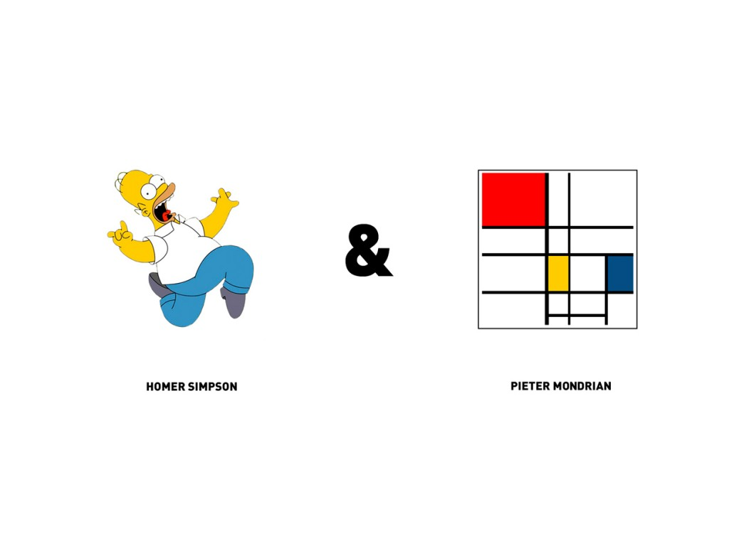 Homer Simpson y Pieter Mondrian