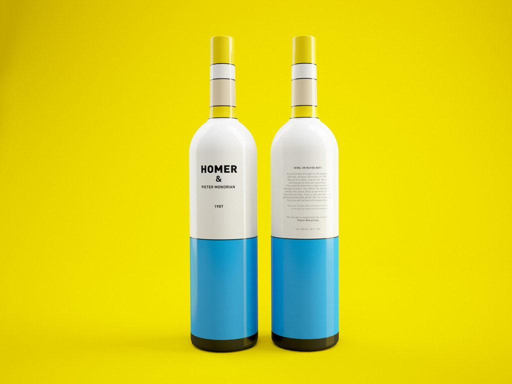 Packaging Vino Homer Simpson