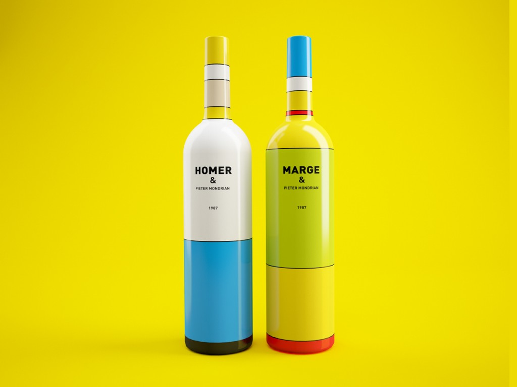 Packaging Vino Homer y Marge Simpson