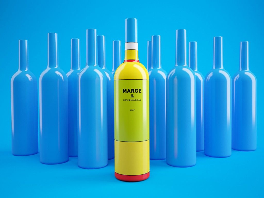 Packaging Vino Marge Simpson