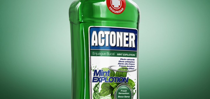 Diseño y fotografías de envase para Actoner Mint Explotion -  Briseis