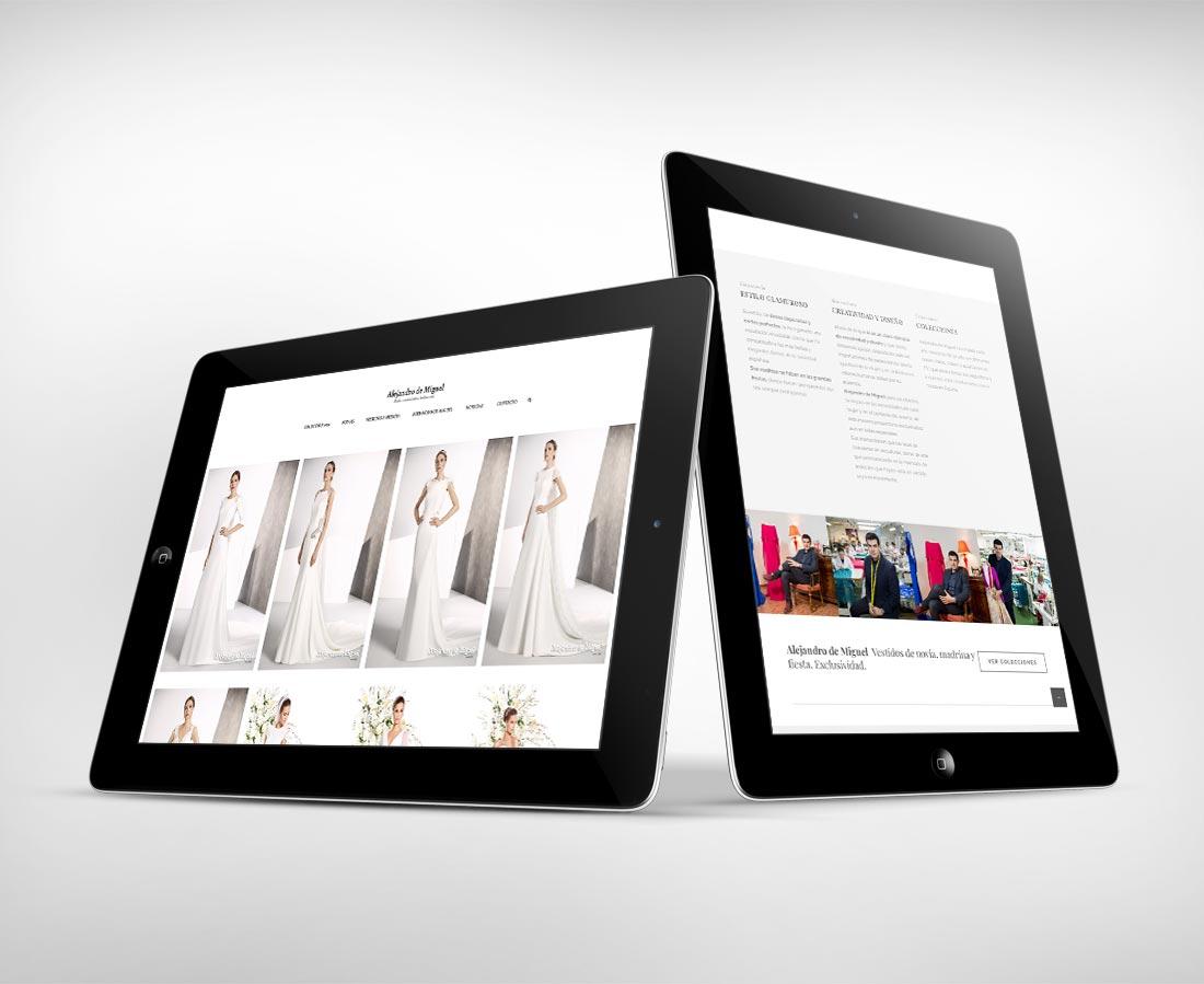 Alejandro de Miguel / Diseño web adaptable / Catálogo de colecciones