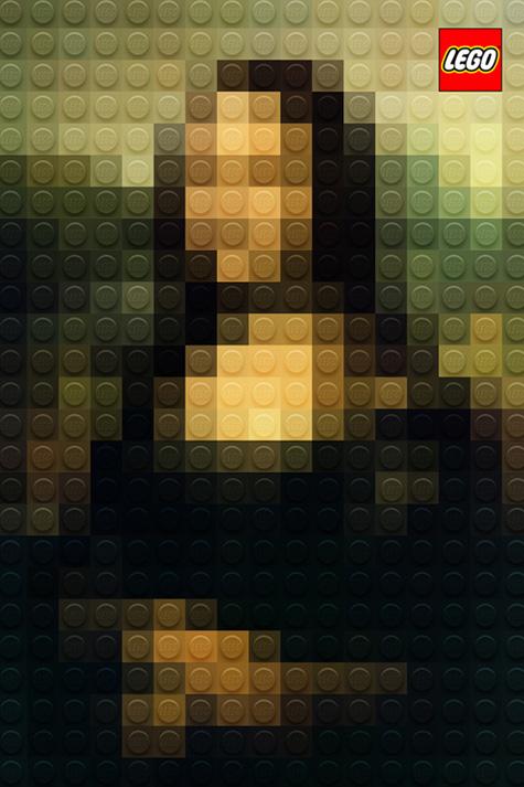 Obras maestras clásicas pixelados con LEGO. Adv no oficial de Marco Sodano