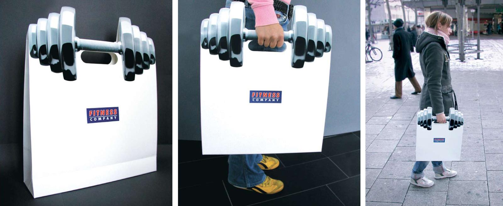 Diseño de packaging para promocionar gimnasio