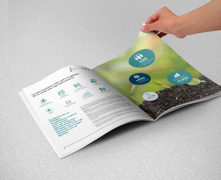 Diseño gráfico para catálogo Hispatec - Páginas interiores