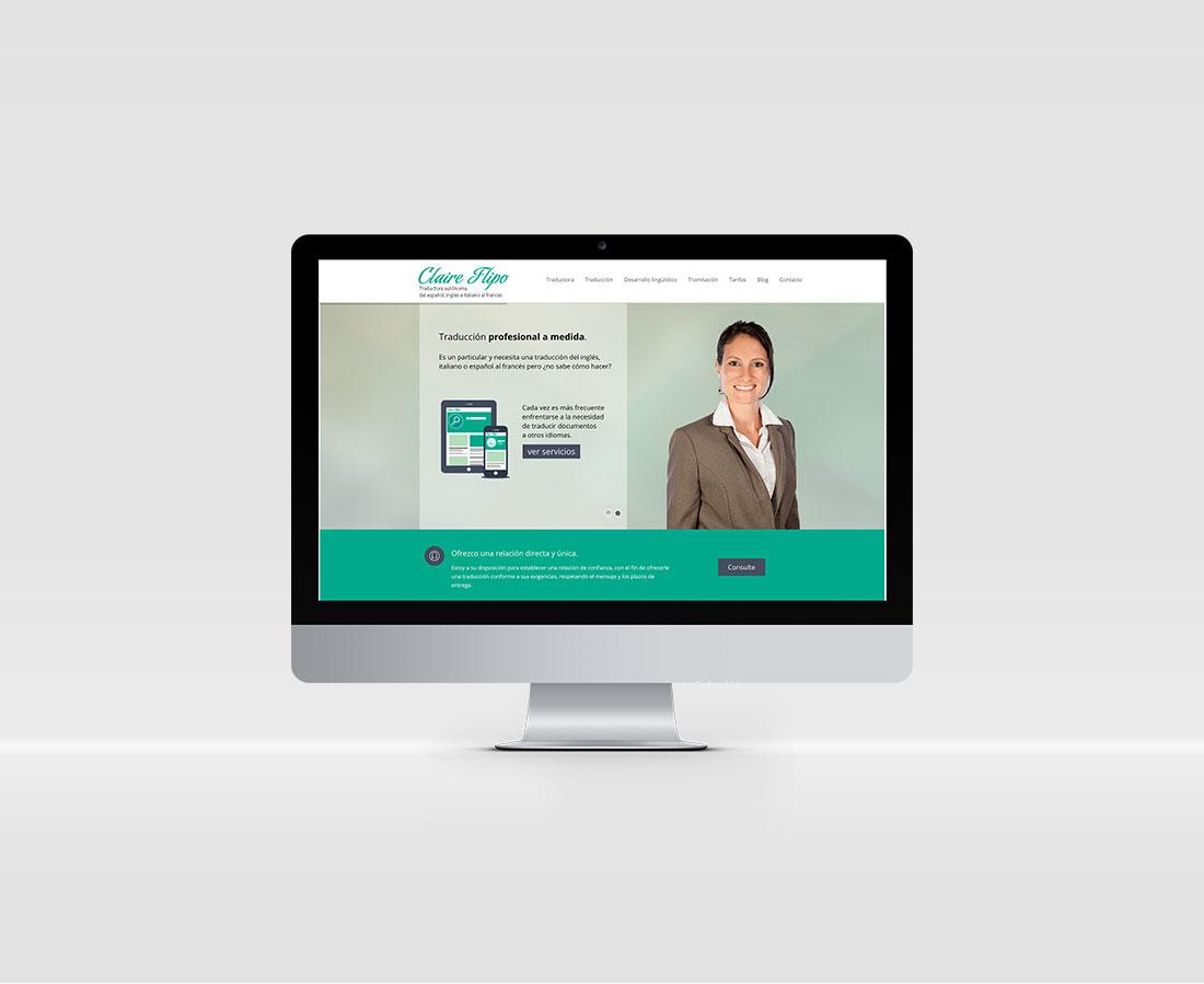 Diseño web para Claire Flipo traducciones