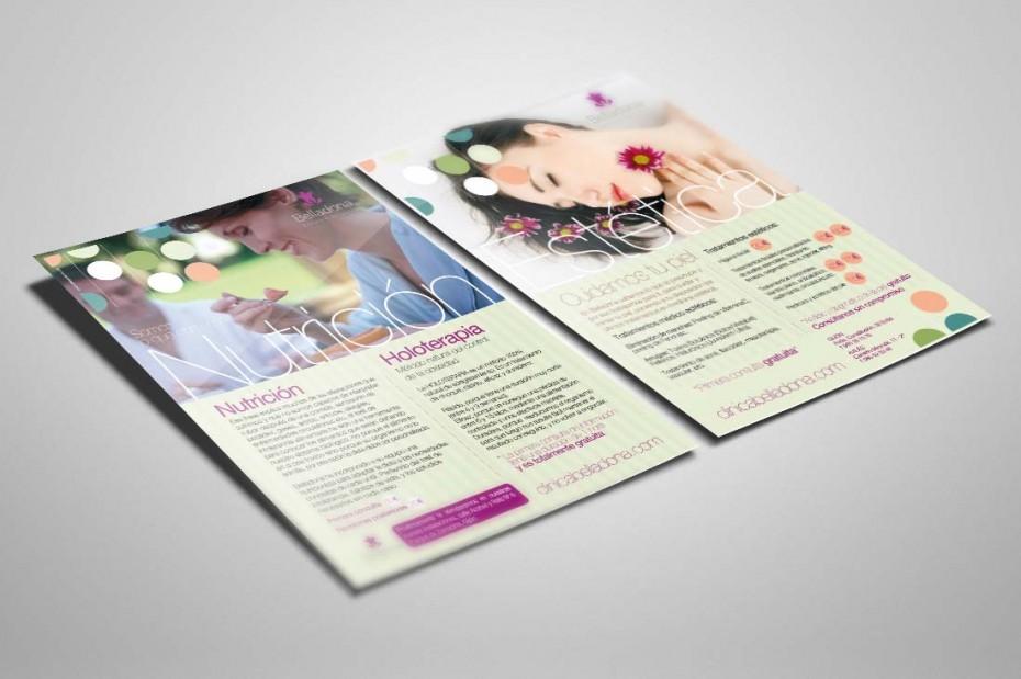 Diseño y maquetación de flyers publicitarios