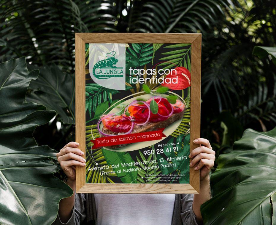 Diseño gráfico para poster - La Jungla Gastrobar