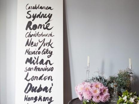 Como decorar con tipografía impresa