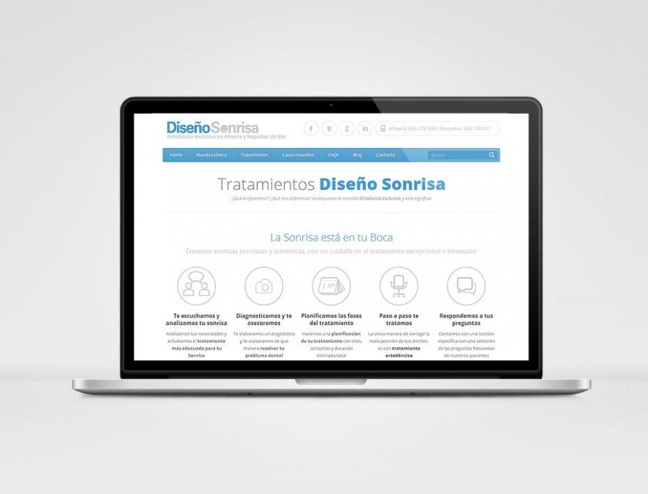Diseño web con catálogo de tratamientos de clínica dental