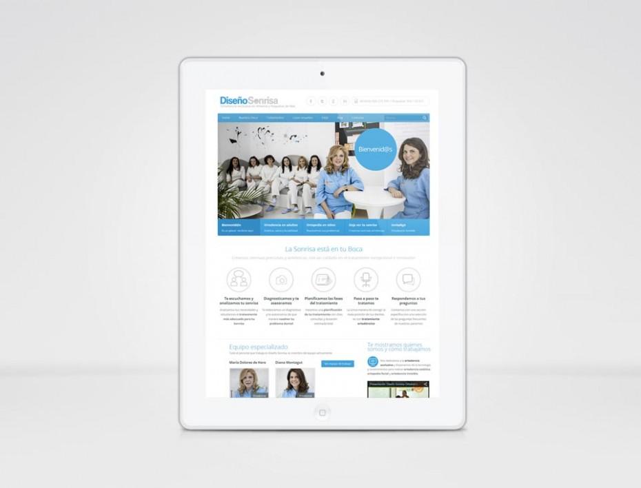 Diseño web para clínica dental adaptado a tablets.