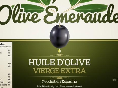 Diseño gráfico para etiquetas de aceite de oliva
