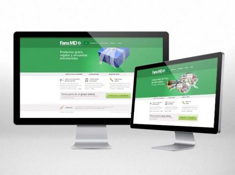 Diseño de sitio web corporativo y de encuestas