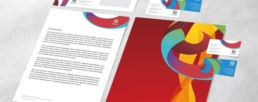 Alma fisioterapia / diseño de papelería corporativa