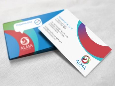Alma fisioterapia / diseño de tarjetas comerciales