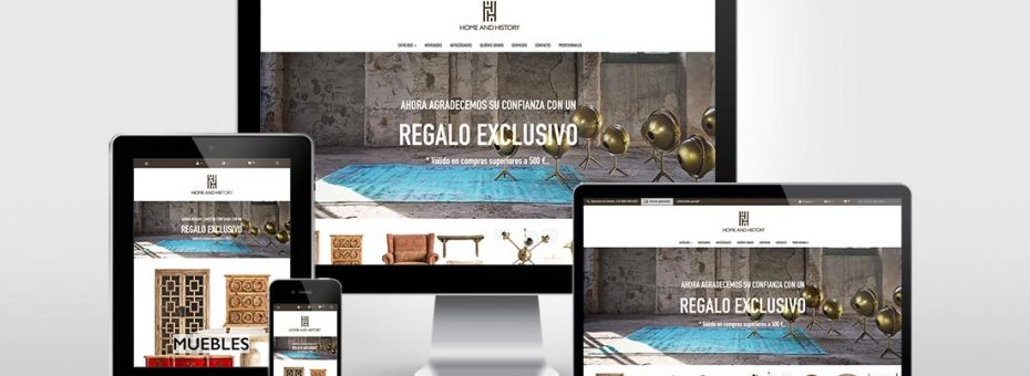 Diseño web - Tienda online Home and History