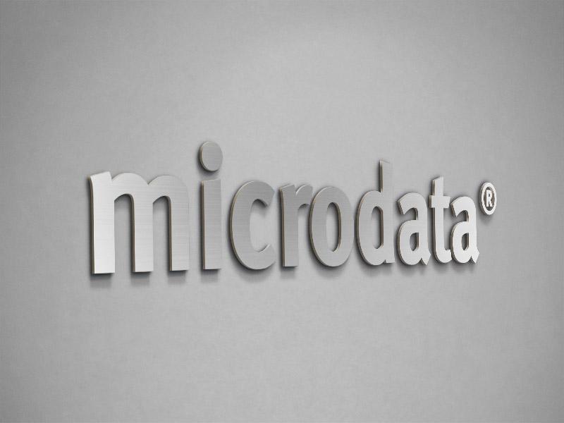 Microdata / Letras corpóreas de aluminio