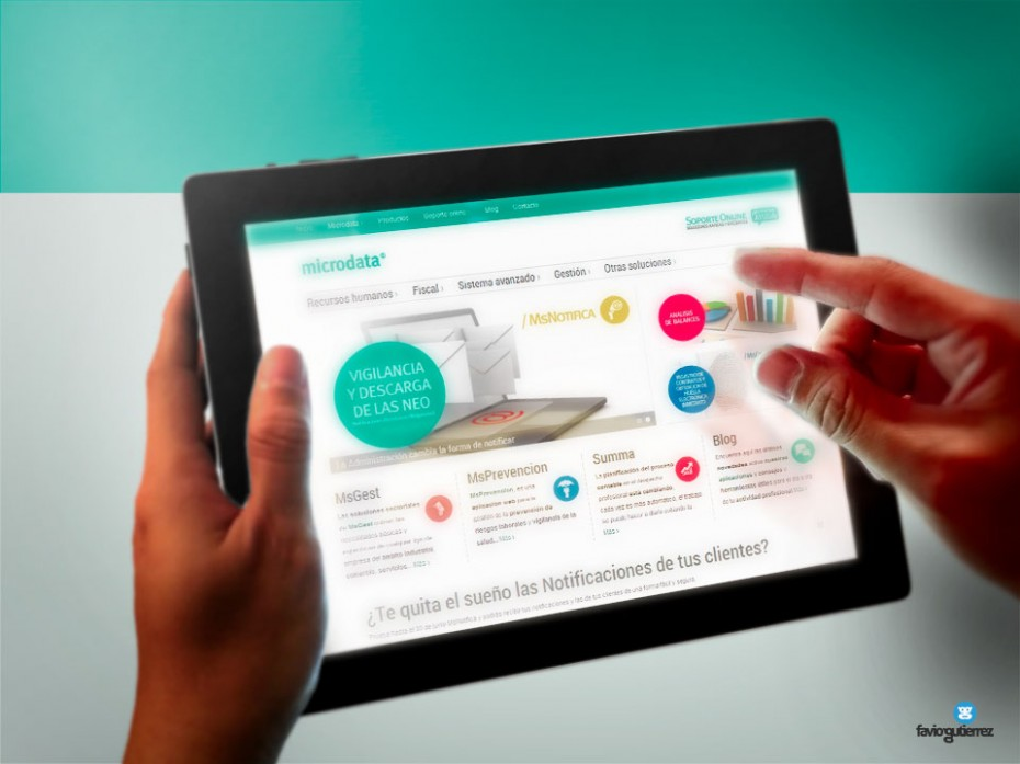 Diseño web responsive adaptable para Ipad