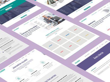 Diseño gráfico y rediseño de pantallas web para Microdata