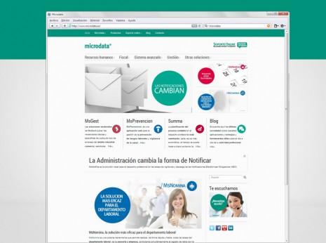 Diseño y desarrollo web para Microdata