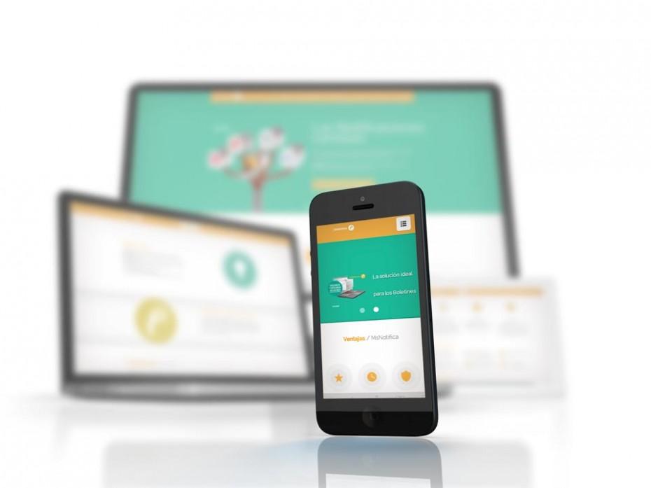 Diseño e implementación de land page para MsNotifica  orientada a que las visitas se conviertan en usuarios