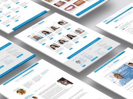 Diseño web de pantallas para clínica de ortodoncia. UX