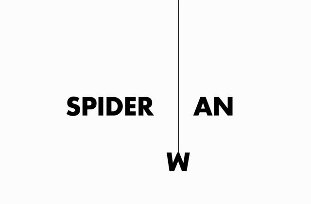 spiderman logotipo tipográfico