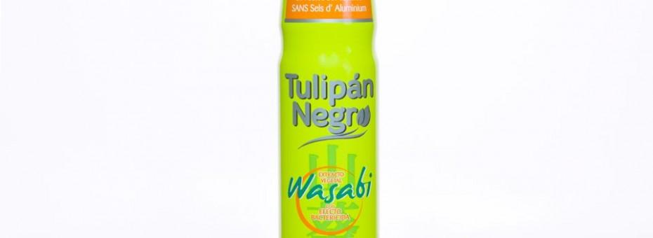 Diseño y adaptación de línea Tulipán Negro Wasabi para packaging de spray