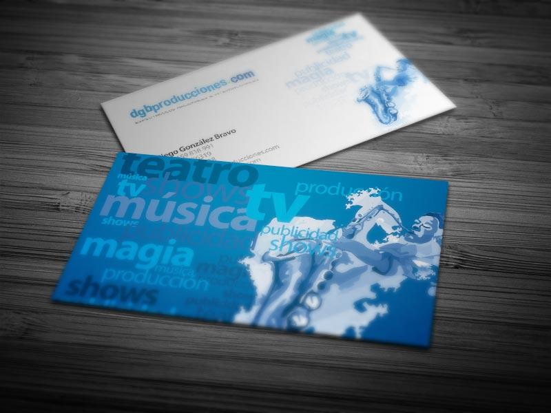 Dgbproducciones / Diseño e impresión de tarjetas comerciales