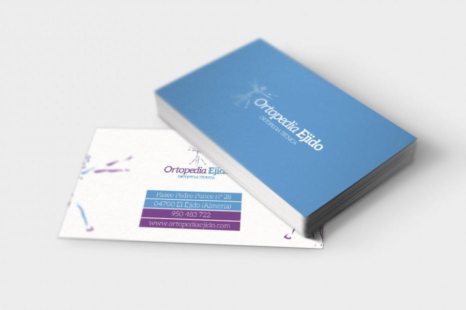 Diseño de logotipo - Aplicación en tarjetas comerciales