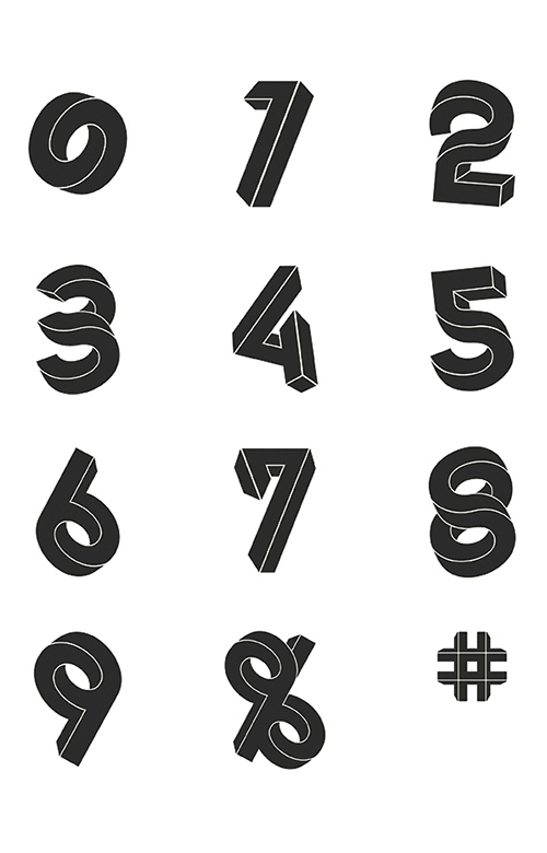 Connected Typeface por Stephan Lerou