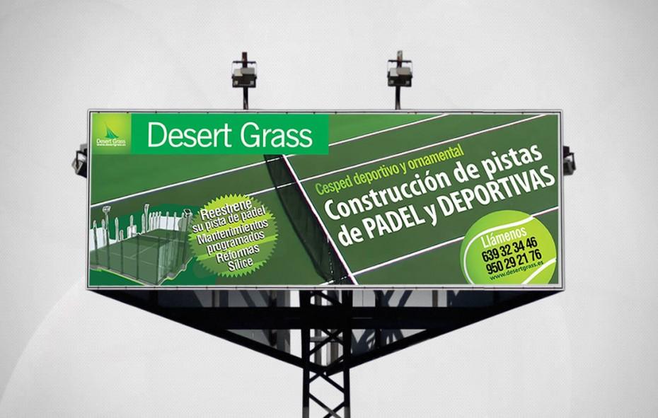Desert Grass / Diseño de valla publicitaria