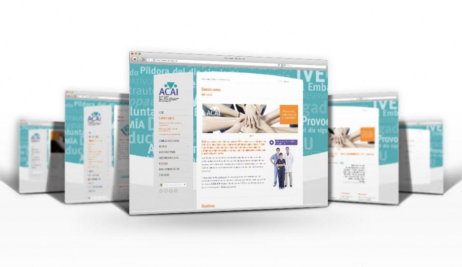 ACAI / rediseño web 2.0 pantallas internas
