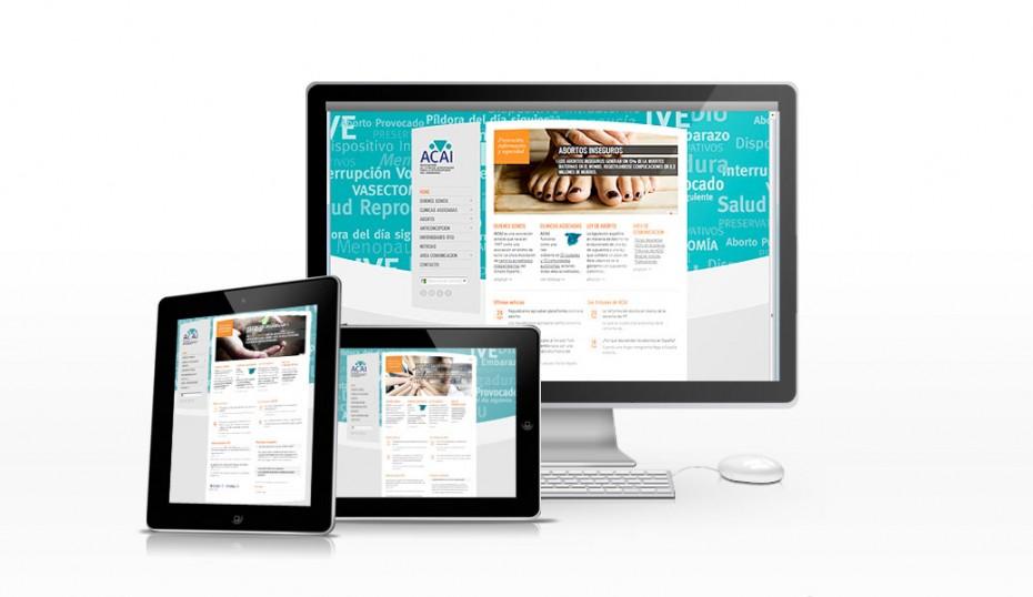 ACAI / rediseño web 2.0 portada en diferentes formatos